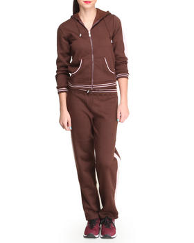 Basic Essentials - Marlina Fleece Hoodie and Sweat Pant Set
