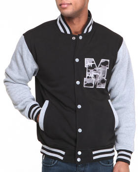 Buyers Picks - T H C Camo - M Fleece Varsity Jacket