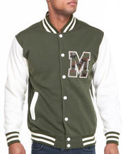 Men - T H C Camo - M Fleece Varsity Jacket