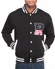 Varsity Jackets - T H C Flag - R Fleece Varsity Jacket
