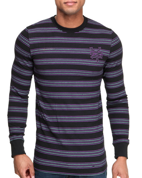 Zoo York - Men Black Z Y Variegated - Stripe L/S Thermal