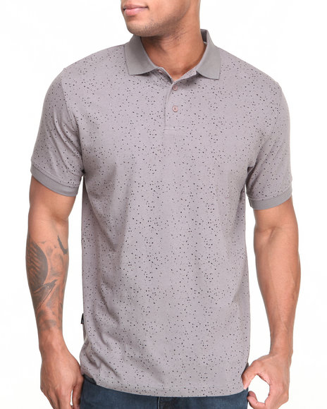 Sneaktip Grey Sneaktip Speckle S/S Polo