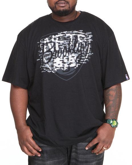 Nba, Mlb, Nfl Gear - Men Black Brooklyn Nets Floyd Tee (B&T)