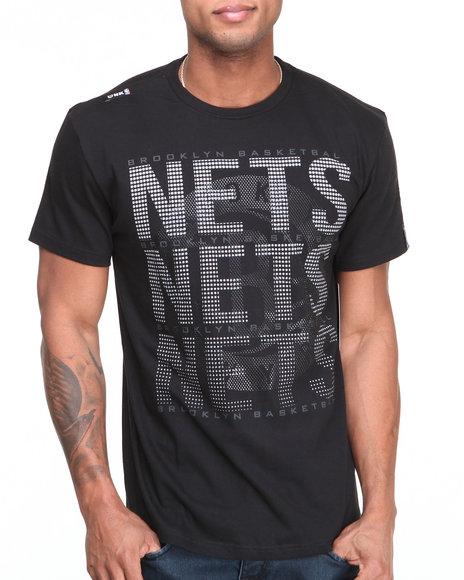 Nba, Mlb, Nfl Gear - Men Black Brooklyn Nets Pinpoint Tee