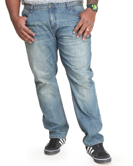 Lrg - Men Dark Wash Still Find Time To Rock True-Straight Jeans (B&T)