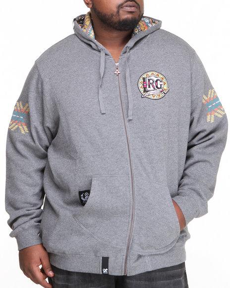 LRG Charcoal Mali Zip Up Hoodie (Big & Tall)