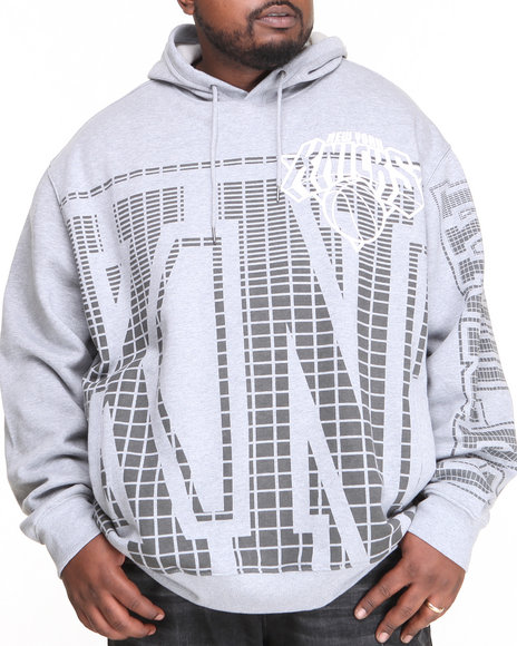 Nba, Mlb, Nfl Gear - Men Grey New York Knicks Grater Pullover Hoodie (B&T)