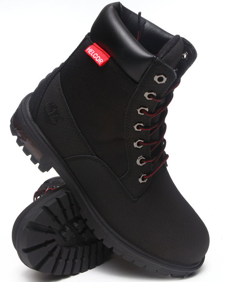 Timberland - Men Black New Market Scuffproof Ii Leather And Fabric Boots