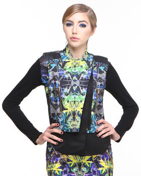 Greedilous - Blue Prism Faux Leather / Poly Vest