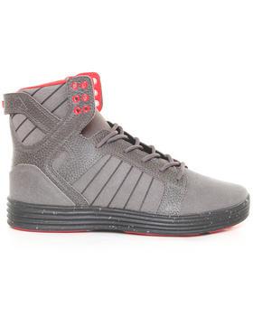 Supra - Skytop Lite Grey Leather Sneakers