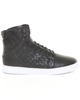 Supra - Skytop LX Black Tumbled Leather Sneakers