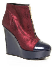 DJP OUTLET - Lauren Metalic Suede Zip up Bootie