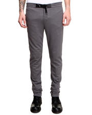 Men - Leather Trim Sweatpants