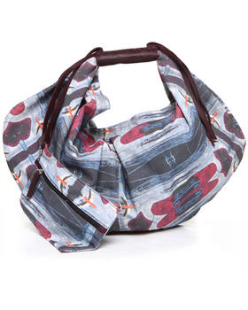 Handbags - Ferra Landing Strip Print Hobo