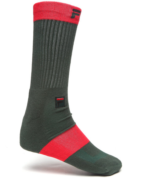 Fila Men Linear Crew Socks Green