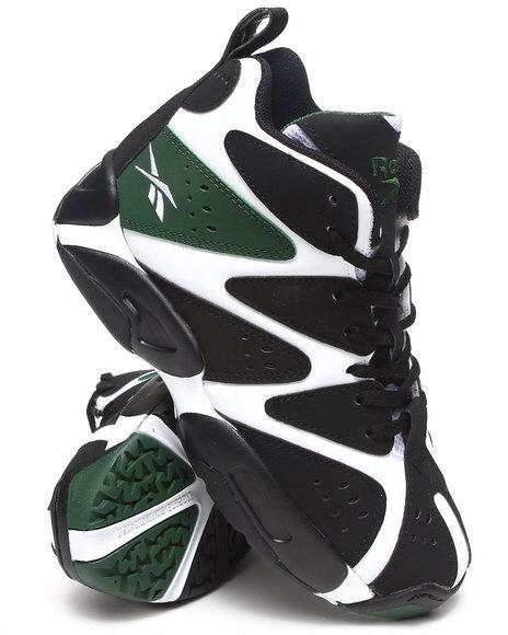 Reebok Boys Black,Green,White Kamikaze Mid Kids Sneakers