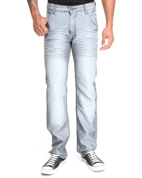 Basic Essentials - Men Grey Recon Denim Jeans