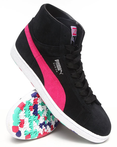 Puma Black Suede Mid Classic Rubbermix Sneakers