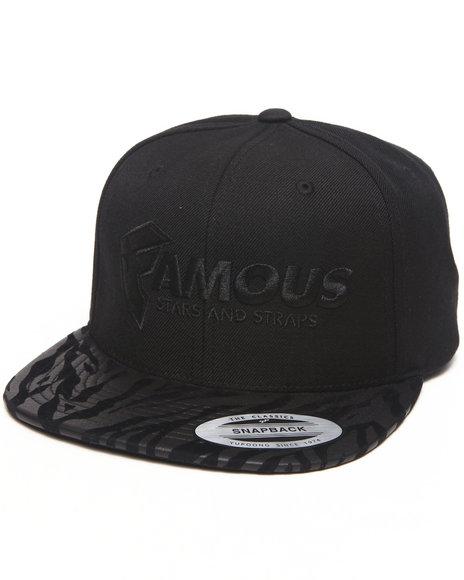 Famous Stars & Straps Wild Famous Snapback Hat Black