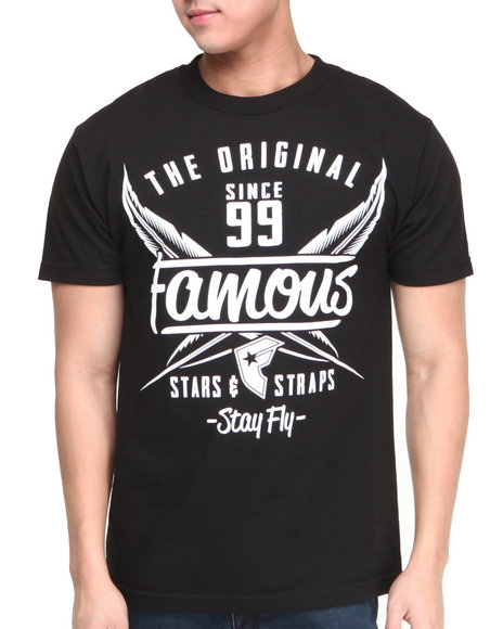 Famous Stars & Straps Black Flight Tee