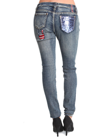 Rocawear Medium Wash Roc Out Skinny Jeans
