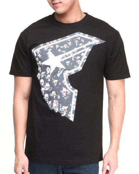 Famous Stars & Straps Black At The Movies Tee