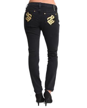 Rocawear - Roc Overdyed Gold Trim Skinny Jean