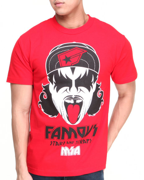 Famous Stars & Straps - Men Red Mazzy Msa Tee