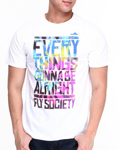 Flysociety White Staycation T-Shirt
