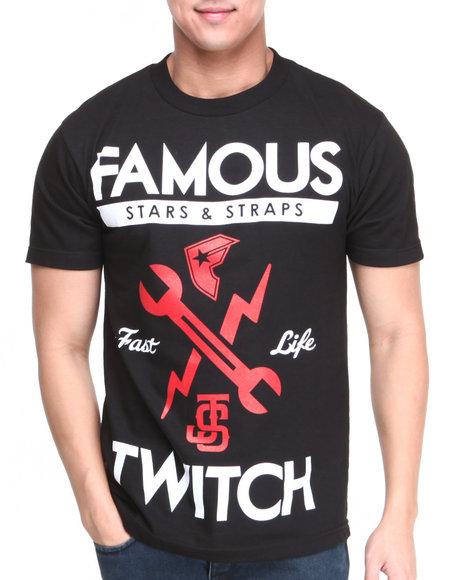 Famous Stars & Straps Black Js Fastlife Tee