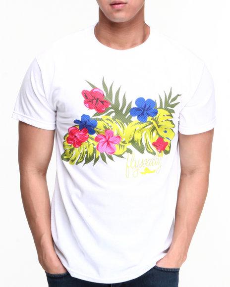 Flysociety White Foliage T-Shirt