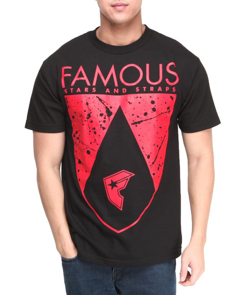 Famous Stars & Straps Black Splatic Shield Tee
