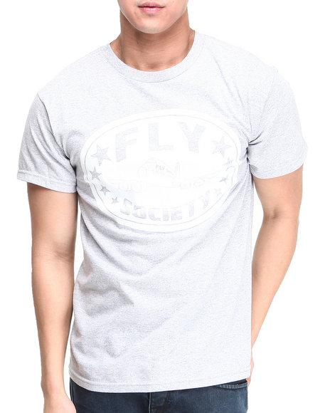 Flysociety - Men Grey Classic Ko T-Shirt