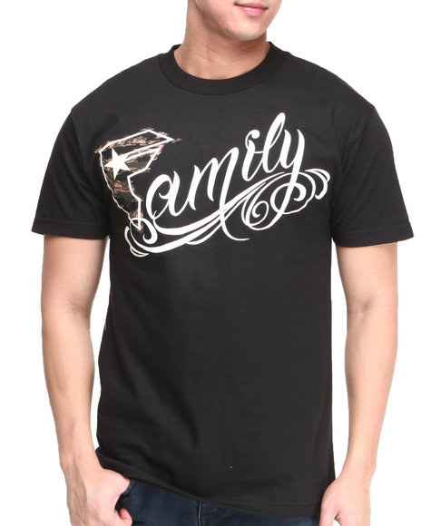 Famous Stars & Straps - Men Black Camo Family Tee - $18.99