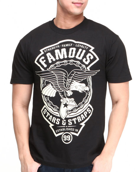 Famous Stars & Straps Black Union Badge Tee