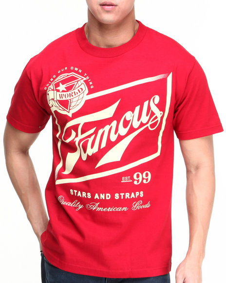 Famous Stars & Straps Red Loaded Tee