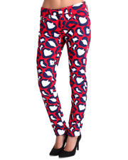 Women - Allover Love Coogi Print Skinny Jeans