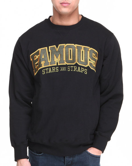 Famous Stars & Straps Black,Olive Bulletproof Crewneck Sweatshirt