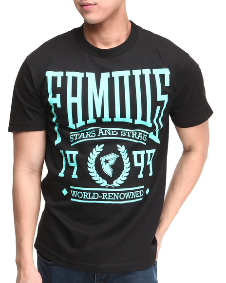 Famous Stars & Straps Black,Teal Renowned Tee