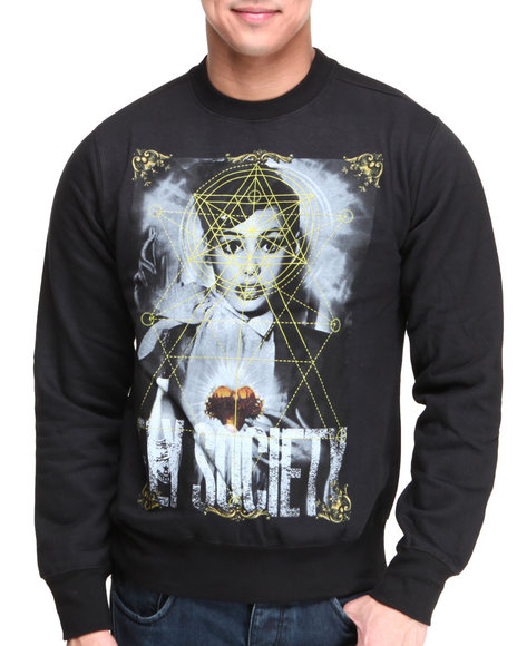 Flysociety Black High Power Crew Sweater