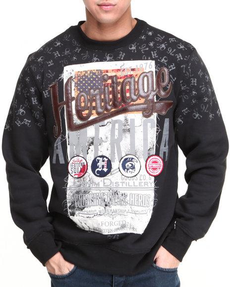 Heritage America Black Heritage America Crewneck Sweatshirt