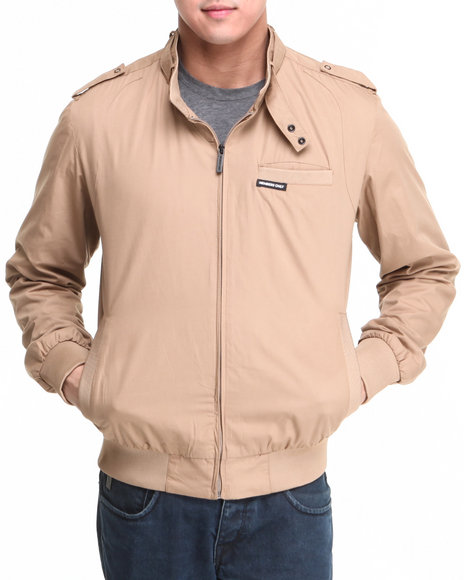 Members Only - Men Brown Iconic Racer Jacket