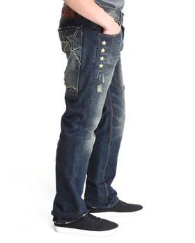 Heritage America - Embroidered H Denim Jeans