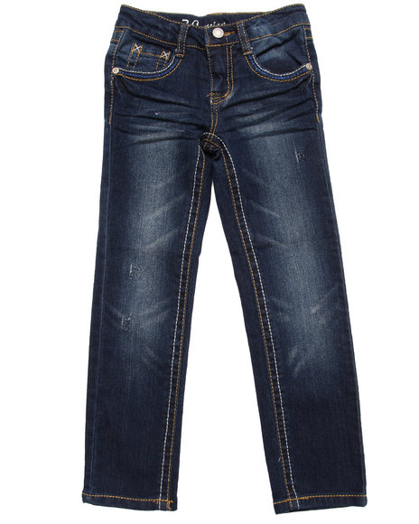 La Galleria Girls Dark Wash Z. Cavaricci Sydney Distressed Skinny Jeans (4-6X)