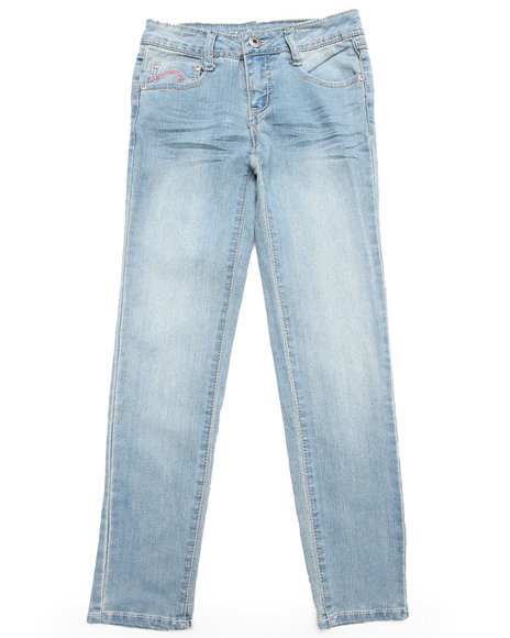 La Galleria Girls Light Wash Z. Cavaricci Light Wash Flap Pocket Skinny Jeans (7-16)