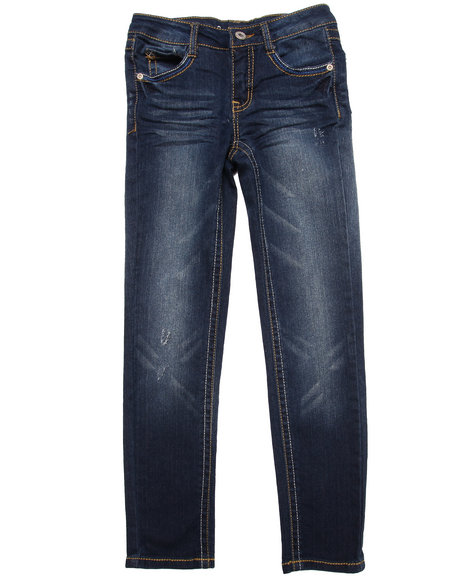 La Galleria Girls Dark Wash Z. Cavaricci Sydney Distressed Skinny Jeans (7-16)