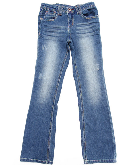 La Galleria Girls Medium Wash Z. Cavaricci Rainbow Prism Pocket Flare Jeans (7-16)