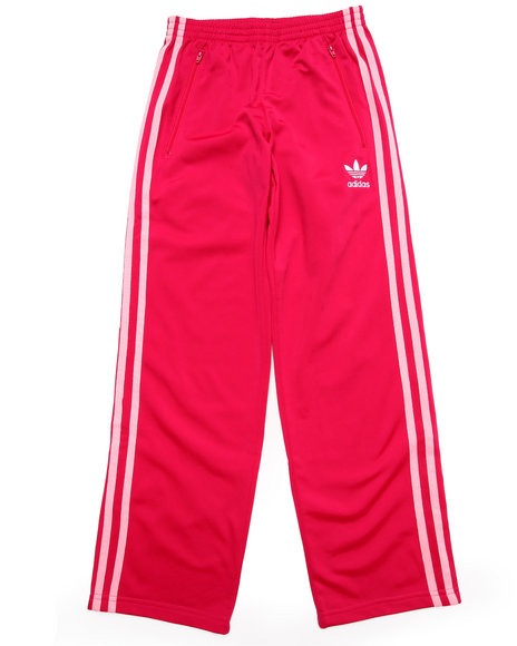 Adidas - Girls Dark Pink Firebird Track Pants
