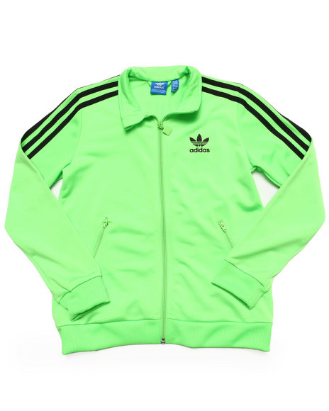 Adidas Boys Lime Green Firebird Track Jacket
