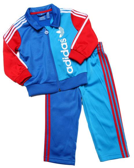 Adidas - Boys Blue Firebird Tracksuit